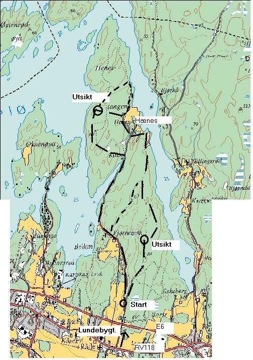 vansjø kart Henestangen vansjø kart